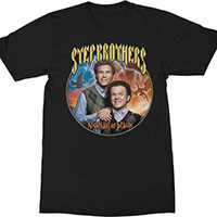 Step Brothers- Nighthawk And Dragon on a black shirt