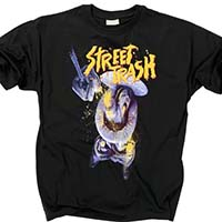 Street Trash- Toilet (Full Color Print) on a black shirt
