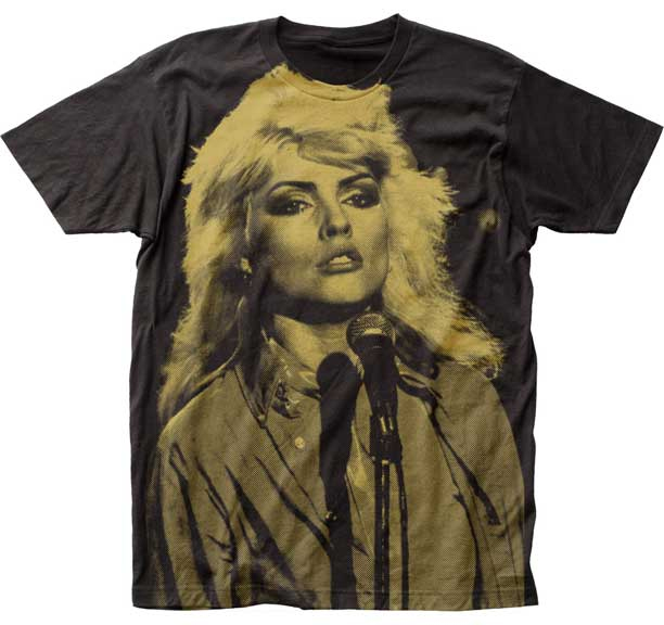 Blondie- Debbie Harry Discharge Print Oversize Live Pic on a black ringspun cotton shirt