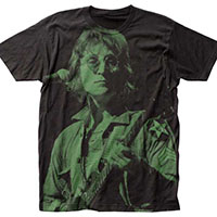 John Lennon- Live Subway Print on a black shirt