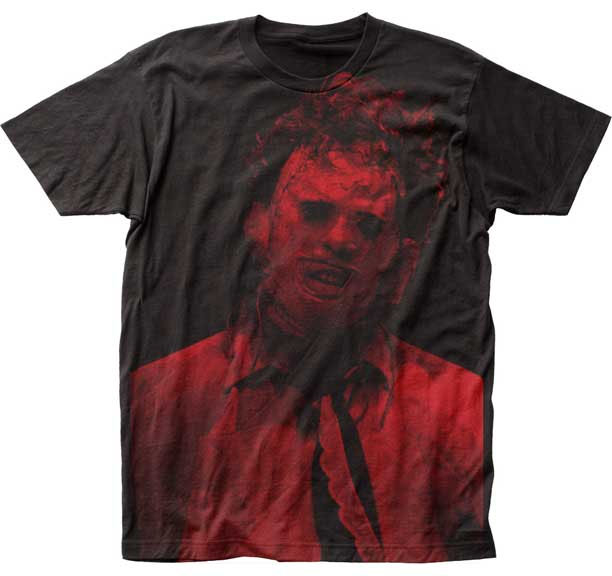 Texas Chainsaw Massacre- Red Leatherface (Subway Print) on a black shirt