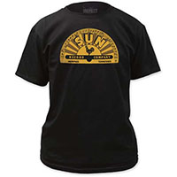 Sun Records- Yellow Logo on a black shirt