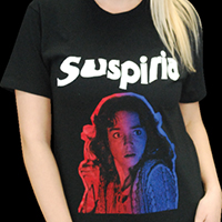 Suspiria- Gradient Face on a black ringspun cotton shirt (Dario Argento)