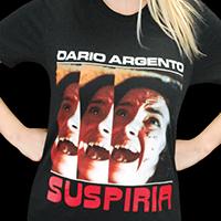Suspiria- Maggots on a black ringspun cotton shirt (Dario Argento)
