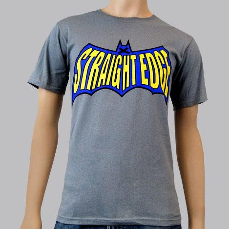 Straight Edge- Batman Logo on a grey shirt by 1981 Clothing (Sale price!)