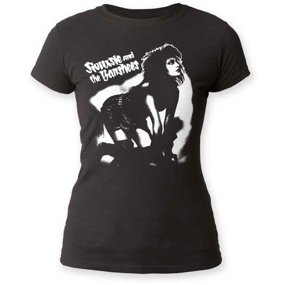 Siouxsie & The Banshees- Siouxsie On Hands & Knees on a black girls fitted shirt