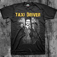 Taxi Driver- Guns on a black shirt