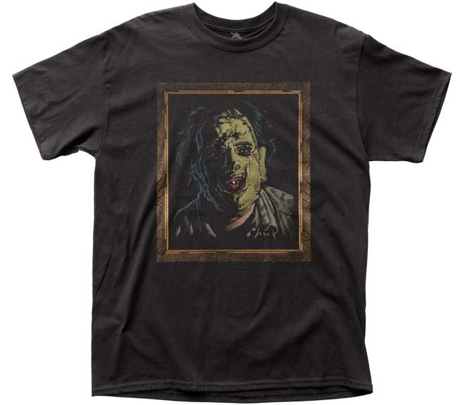 Texas Chainsaw Massacre- Leatherface Velvet Painting on a black ringspun cotton shirt (Sale price!)