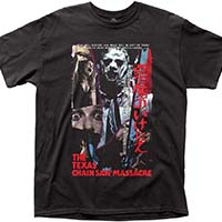 Texas Chainsaw Massacre- Japanese VHS Cover on a black shirt