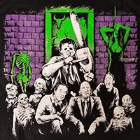 Texas Chainsaw Massacre- Earth AD on a black shirt