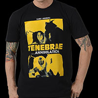 Tenebrae- Annihilation on a black ringspun cotton shirt (Dario Argento)