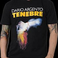 Tenebre- Movie Poster on a black ringspun cotton shirt (Dario Argento)