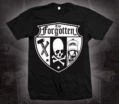 Forgotten- Shield on a black shirt (Sale price!)