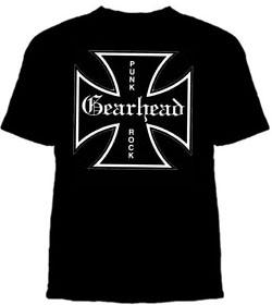 Gearhead Records- Iron Cross on a black shirt (Sale price!)