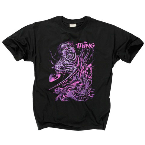 Thing- Creature on a black shirt