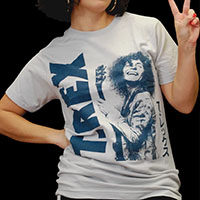 T Rex- Japanese Live Pic on a grey ringspun cotton shirt
