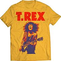 T Rex- Guitar on a sunburst yellow shirt