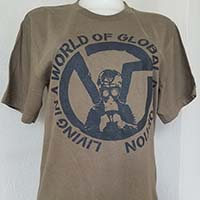 Virus- Living In A World Of Global Destruction shirt - on army green