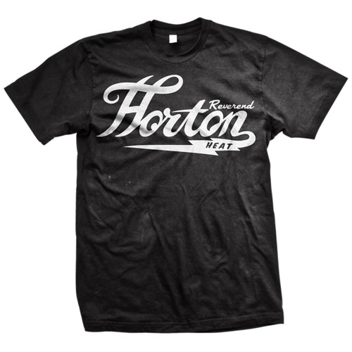 Reverend Horton Heat- Classic Logo on a black shirt