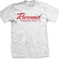 Reverend Horton Heat- Logo on a striped ringspun cotton shirt (Sale price!)