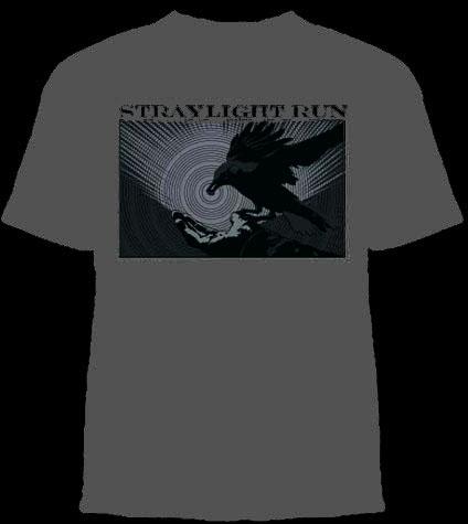 Straylight Run- Bird on a charcoal YOUTH sized shirt