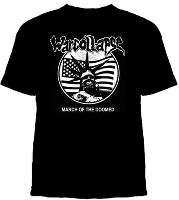 Warcollapse- March Of The Doomed on a black YOUTH sized shirt (Sale price!)