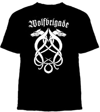 Wolfbrigade- Celtic Design on a black shirt (Sale price!)