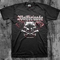 Wolfbrigade- Warsaw Speedwolf on a black shirt