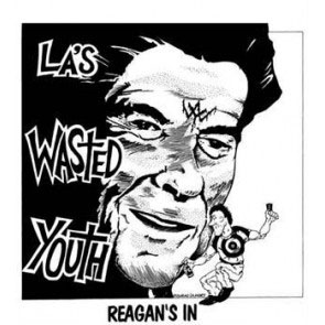 Wasted Youth- Reagan's In (White) back patch (bp469)