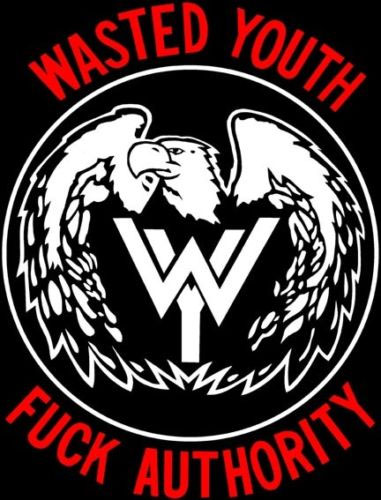 Wasted Youth- Fuck Authority back patch (bp468)