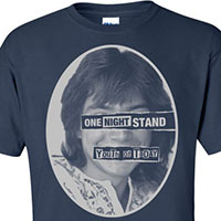 Youth Of Today- One Night Stand on front, Partridges on back on a blue shirt (Ltd Ed Record Store Day Shirt)