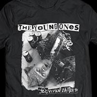 Young Ones- Vyvyan Basterd on a black ringspun cotton shirt