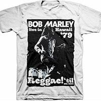 Bob Marley- Live In Hawaii '79 on a white shirt