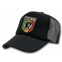 Bob Marley- Marley on a Black Trucker Hat