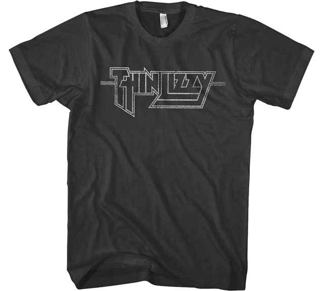 Thin Lizzy- Classic Logo on a black ringspun cotton shirt