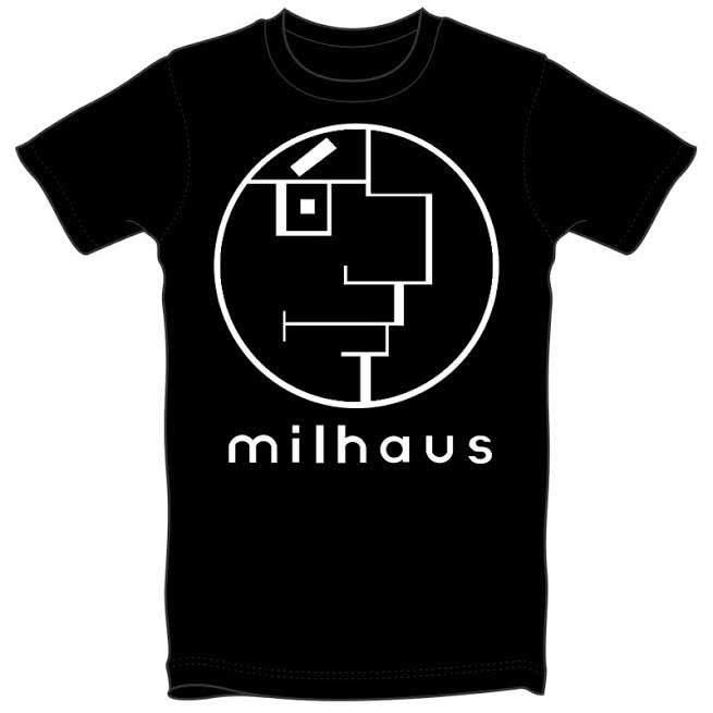 Milhaus on a black guys shirt by Thrillhaus