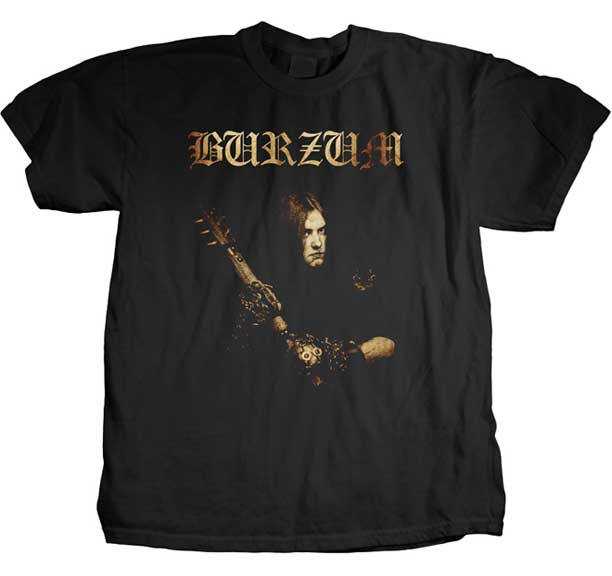 Burzum- Anthology Cover on a black shirt