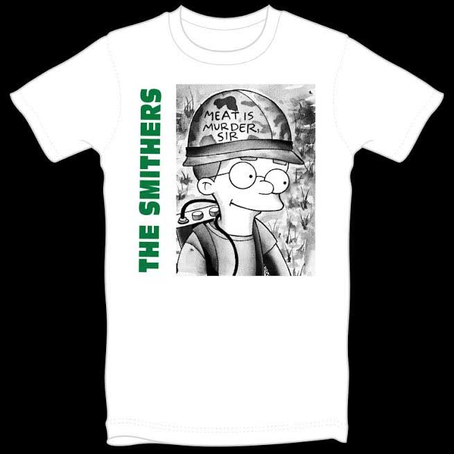 The Smithers on a white guys shirt by Thrillhaus
