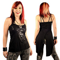 Drop Tail Screened Tank by Lip Service - SALE sz XS only