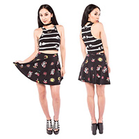 Mexican Moon Skater Skirt by Iron Fist - SALE sz S only