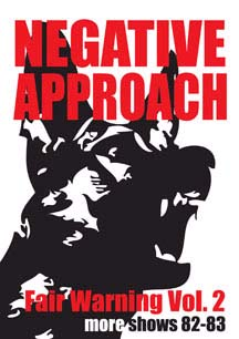 Negative Approach- Fair Warning Vol 2 DVD (Sale price!)