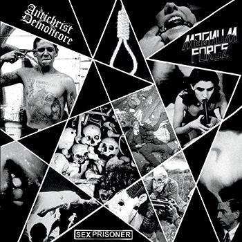 "Antichrist Demoncore (ACxDC) / Magnum Force / Sex Prisoner- Split 10"" (Red Vinyl)"
