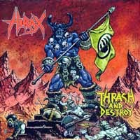 Hirax- Thrash And Destroy 2xLP (Blue & Yellow Vinyl)