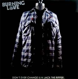"Burning Love- Don't Ever Change 7"" (Sale price!)"