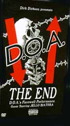 DOA- The End DVD (Their last show) (Sale price!)