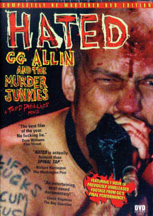 GG Allin- Hated DVD (Regular version with bonus footage) (Sale price!)