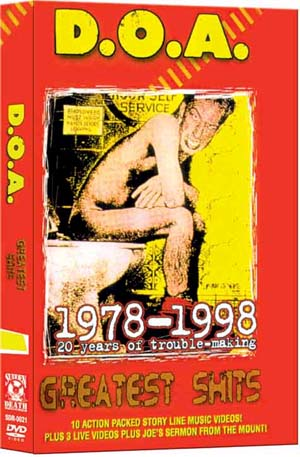 DOA- Greatest Shits 1978-1998 DVD (Sale price!)