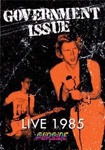 Government Issue- Live 1985 DVD (Sale price!)