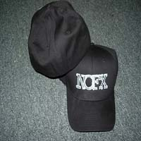 NOFX- Logo embroidered on a black baseball hat