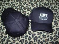 Fat Wreck Chords- Logo embroidered on a black flex fit baseball hat